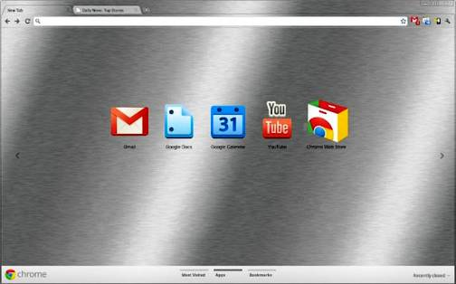 4. Brushed Top 10 Best Google Chrome Themes   2012