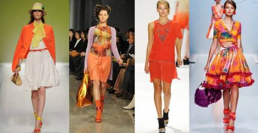 4. Tangy Orange Top 10 New York Fashion Week Spring 2012 Trends 