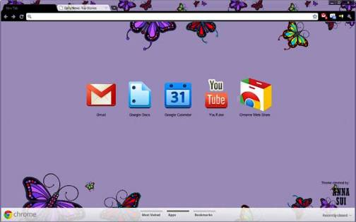 6. Anna Sui Top 10 Best Google Chrome Themes   2012