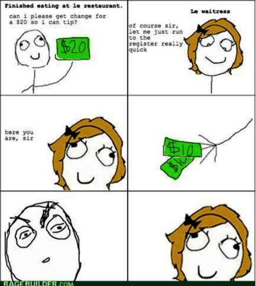 6. Smart Aleck Waitress 10 Funniest Rage Comics