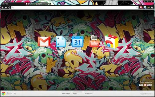 7. Marc Ecko Top 10 Best Google Chrome Themes   2012