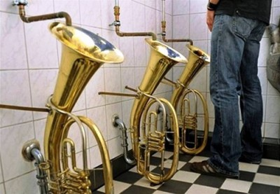 2. Find Comfort in Trumpet e1332153130704 10 Most Bizarre Toilets The World Have Ever Seen