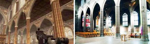 7. Manchester Cathedral 10 Places in Video Games that Actually Exist