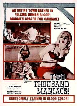 8. Two Thousand Maniacs Top 10 Best Violence Movies of All Time