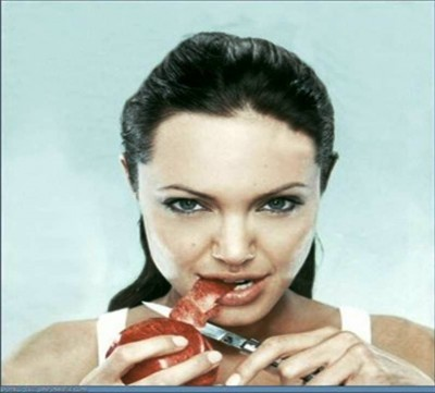 3. Angelina Jolie The Lover of Knives e13335462104861 10 Weird Hobbies of the Rich and Famous