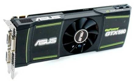 3. NVIDIA Geforce GTX 590 Top 10 Best Graphic Cards in 2012