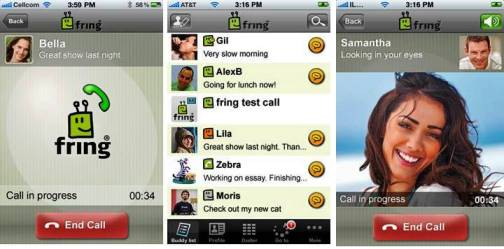 4. Fring Top 10 iPhone Apps to Make Free Calls
