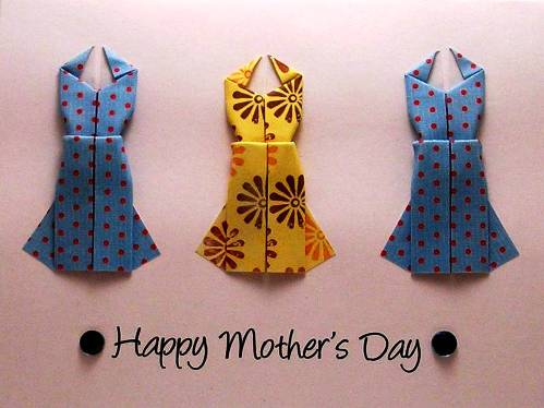 5. Origami Cards 10 Best Mothers Day Greeting Card Ideas