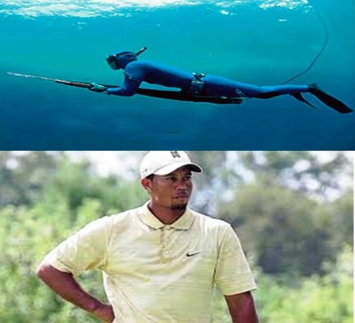 5. Spear Fishing for Tiger Woods e13335461221611 10 Weird Hobbies of the Rich and Famous