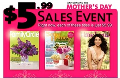 6. Magazine Subscription e1334939565545 Top 10 Mothers Day Gifts Under $20