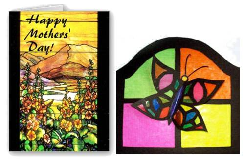 6. Stained Glass Cards 10 Best Mothers Day Greeting Card Ideas