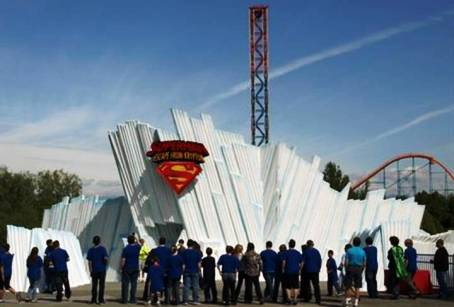 6. Superman Escape from Krypton Top 10 Fastest Roller Coaster Rides in the World