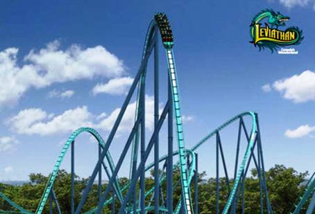 9. Leviathan Top 10 Fastest Roller Coaster Rides in the World