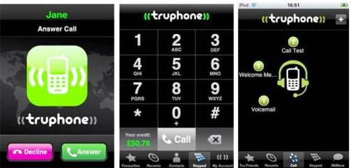 9. Truphone Top 10 iPhone Apps to Make Free Calls