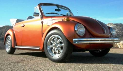 5. 1973 Volkswagen Super Beetle Convertible Top 10 Slowest Sports Cars of All Time