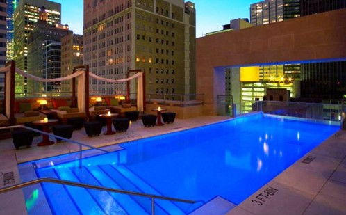 5. Hotel Joule Dallas Texas Rooftop Pool e1337940464332 Top 10 World's Most Picturesque Pools