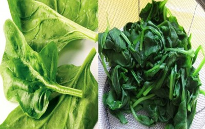 5. Raw Cooked Spinach e1337952290396 Top 10 Most Nutritious Pizza Toppings