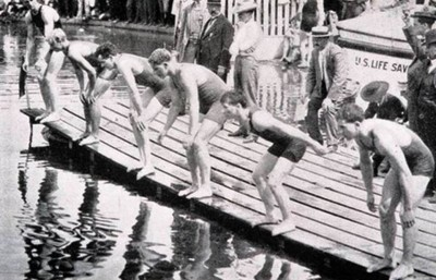 1. Swimming Obstacle Race 1900 e1343127979309 Top 10 Weirdest Sports in Olympics