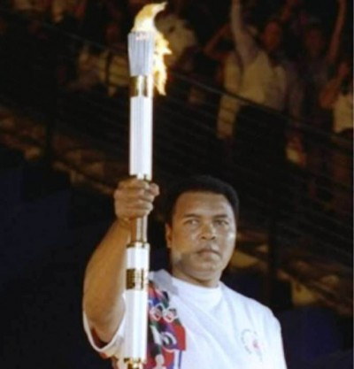 10. Ali Lights the Torch e1343713746311 Top 10 Olympic Moments of All Time