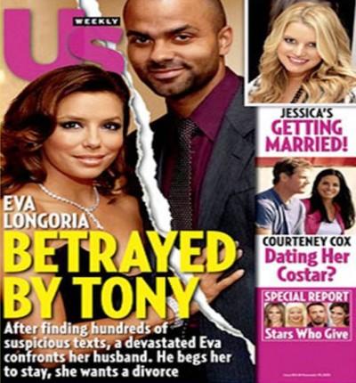 8. Eva Longoria Tony Parker e1343665960910 10 Most Controversial Celebrity Break ups