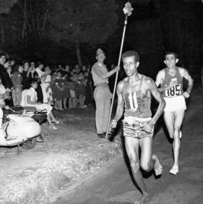 9. Abebe Bikila Ran Barefooted Won e1343713733620 Top 10 Olympic Moments of All Time