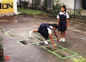 10. Hopscotch e1345794891326 Top 10 Outdoor Games for Kids