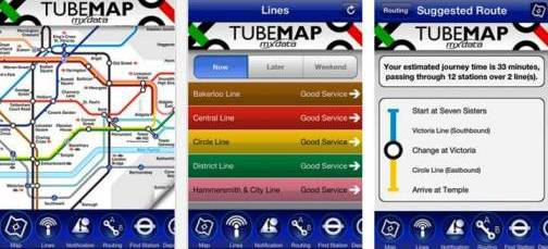 5. Tube Map Top 10 Olympics 2012 Mobile Applications