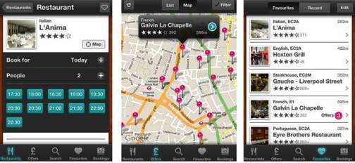 6. TopTable Restaurant Finder Top 10 Olympics 2012 Mobile Applications