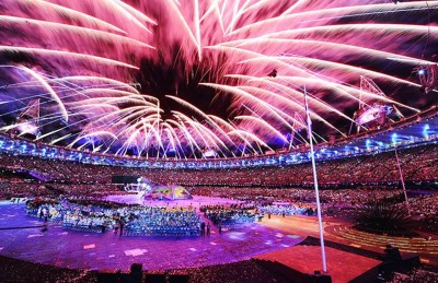 1. Fireworks e1346655553969 Top 10 Highlights in Paralympics 2012 Opening