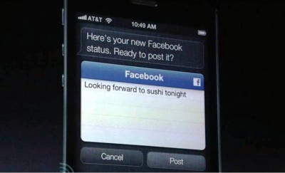 6. Facebook Status using SIRI e1347944361641 Top 10 Features of iPhone 5