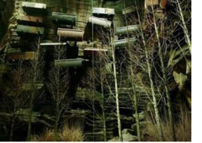 4. Mysterious Hanging Coffins e1351245726118 Top 10 Most Bizarre Cemeteries in the World