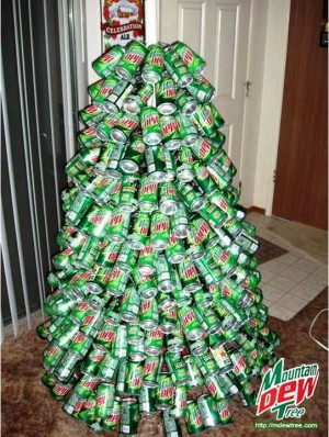 Mountain Dew Christmas Tree e1355844999423 Top 10 Weirdest Christmas Trees in the World